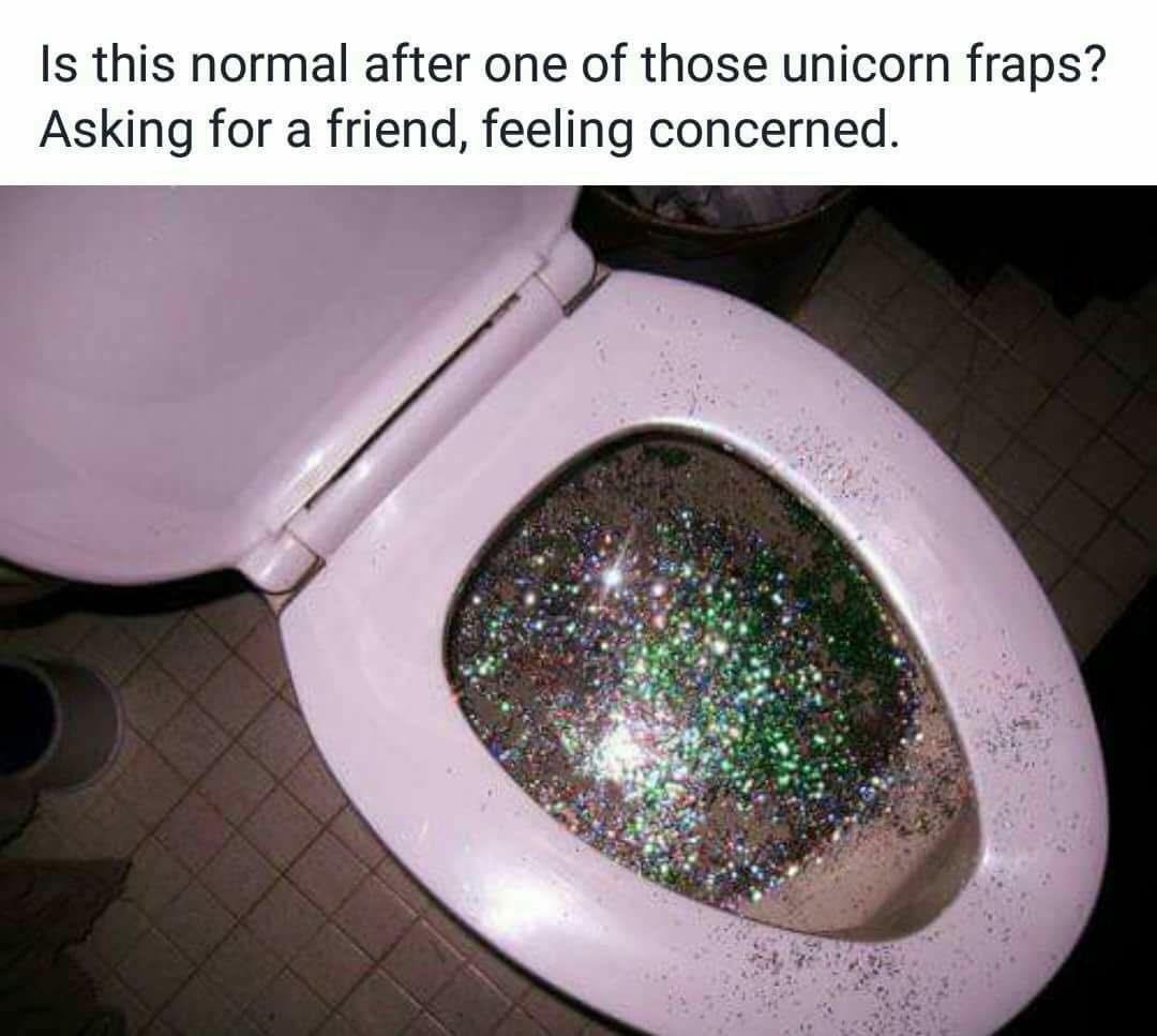 Glitter Toilet