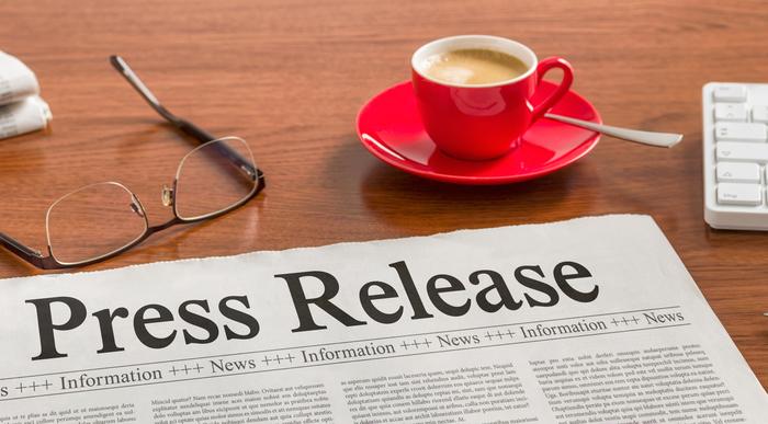 Press Release headline on newspaper