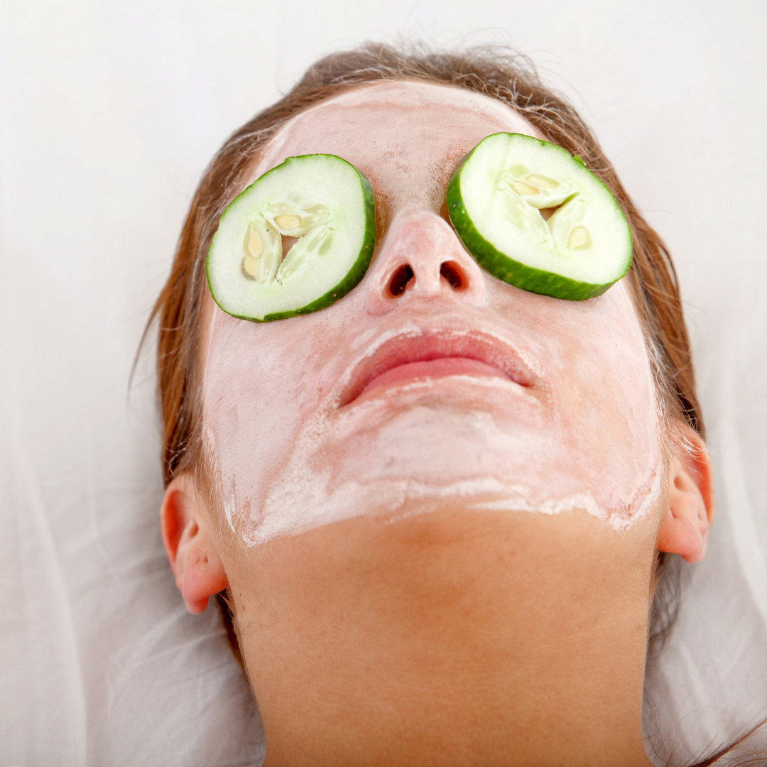 Woman Getting facelift-facial