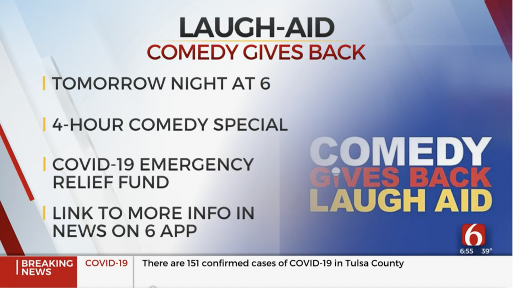 News on 6 Comedy Gives Back Laugh Aid